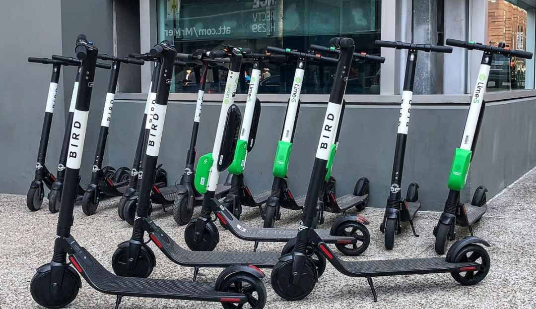 Many_Bird_and_Lime_scooters